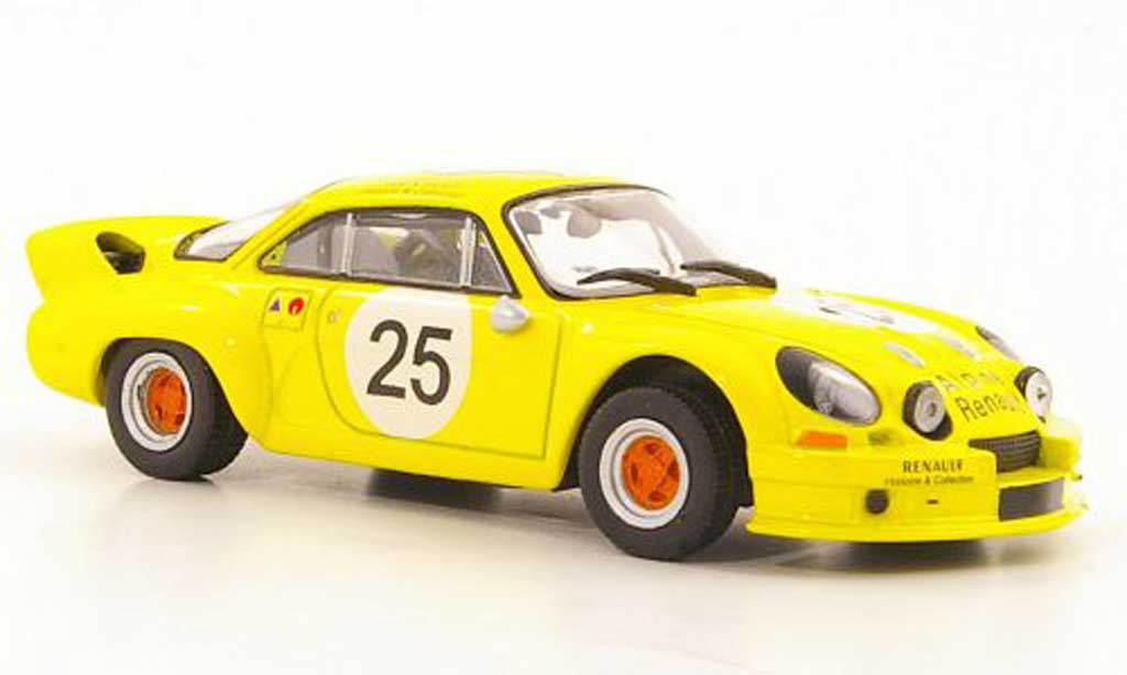 Alpine A110 1/43 Solido 1800 No. 25 Renault Histoire & Collection 1975 diecast model cars