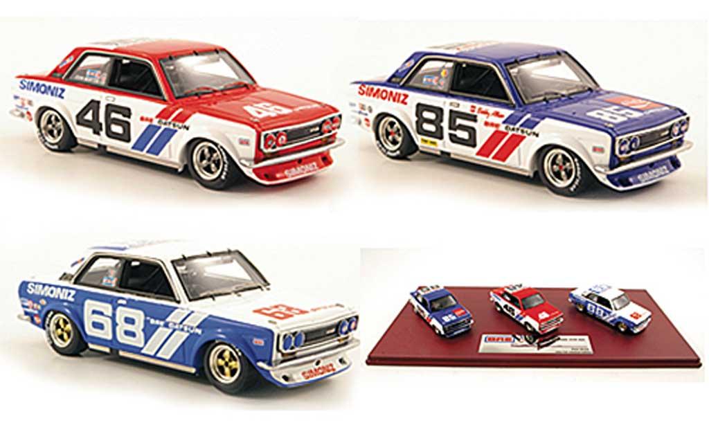 Datsun 510 1/43 TrueScale Miniatures BRE Team-Set: No.46 No.68 + No.85 1972 miniature