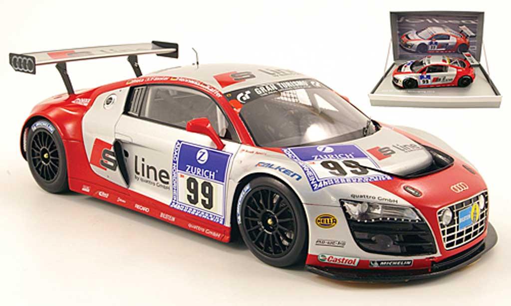 Audi R8 LMS 1/18 Spark no.99 s line 24h nurburgring 2010 biela / fassler / hennerici / kaffer diecast