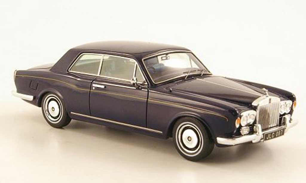 Rolls Royce Corniche 1/43 TrueScale Miniatures Coupe bleu 1970 miniature