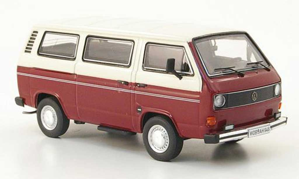 Volkswagen T3 A 1/43 Premium ClassiXXs a Bus L rouge/creme miniature