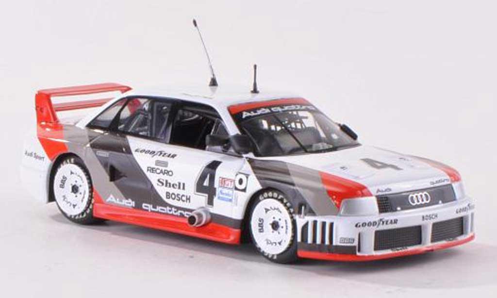 Audi 90 quattro 1/43 Minichamps No.4 of America H.J.Stuck IMSA GT 200 Miles Mid-Ohio 1989 H.J.Stuck Collection miniature