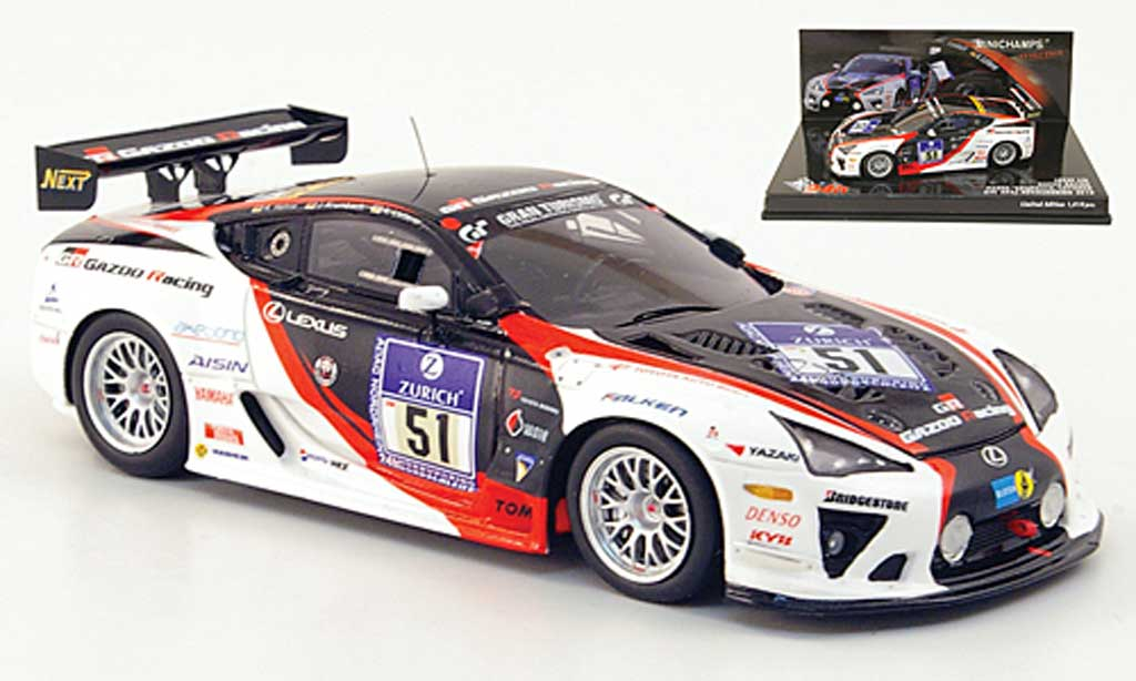 lexus lfa gazoo racing 24h adac nurburgring 2010 minichamps modellauto 1 43 kaufen. Black Bedroom Furniture Sets. Home Design Ideas