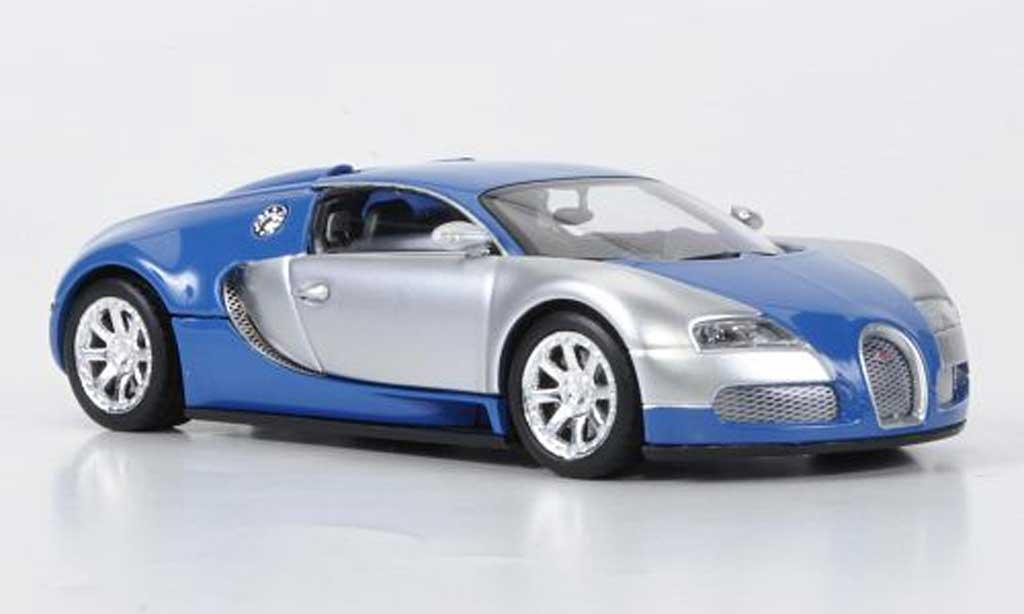 Bugatti Veyron Edition Centenaire 1/43 Minichamps Chrom/bleu 2009 miniature