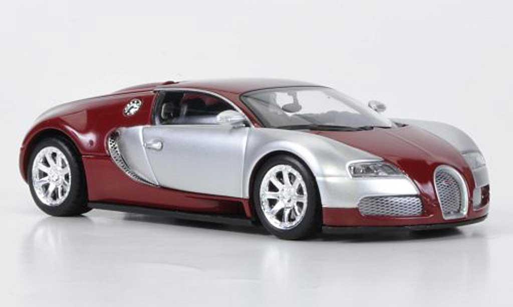 Bugatti Veyron Edition Centenaire 1/43 Minichamps Chrom/rouge 2009 miniature