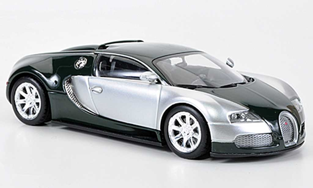 Bugatti Veyron Edition Centenaire 1/43 Minichamps Chrom/grun 2009 miniature