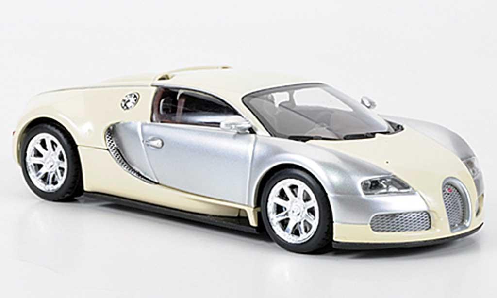 Bugatti Veyron Edition Centenaire 1/43 Minichamps Chrom/beige 2009 miniature