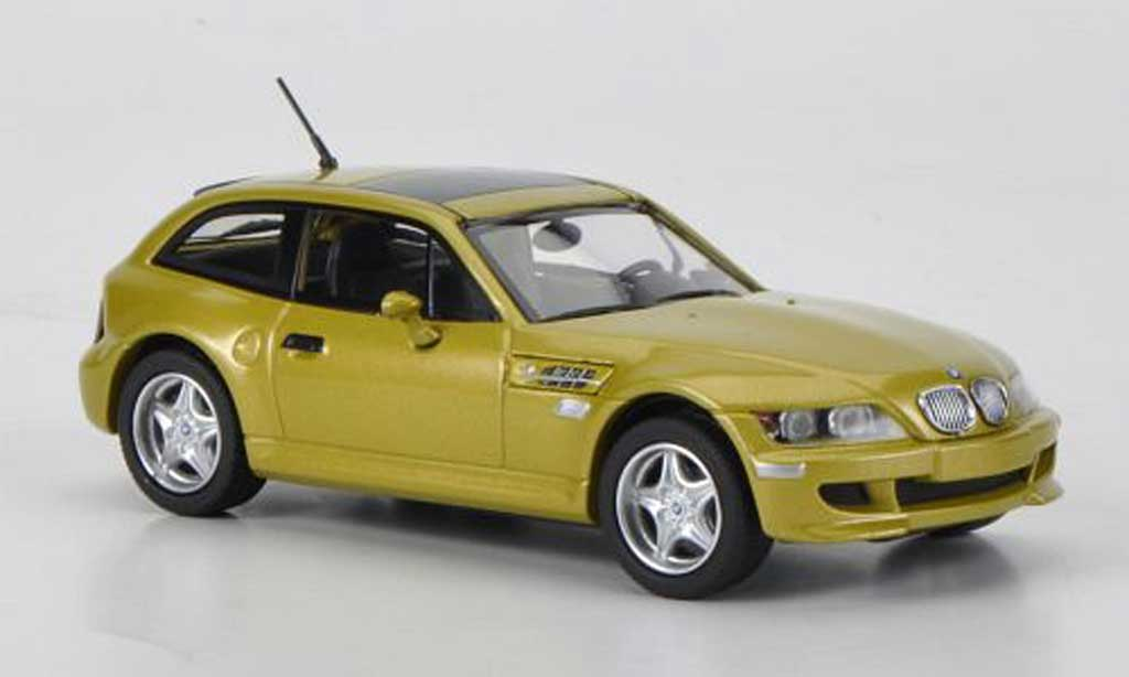 Bmw Z3 coupe 1/43 Minichamps M (E36/8) yellow 2001 diecast model cars