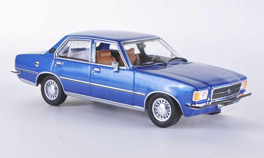 Opel Rekord 1/43 Minichamps D bleu 1975 miniature