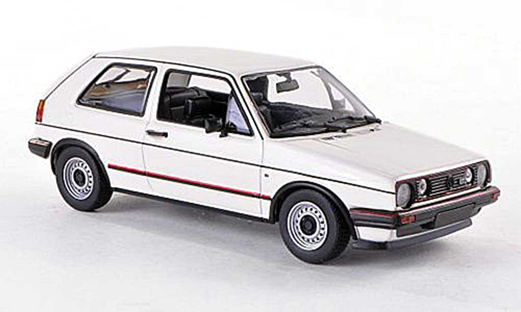 Volkswagen Golf 2 GTI 1/43 Minichamps white 1985 diecast model cars