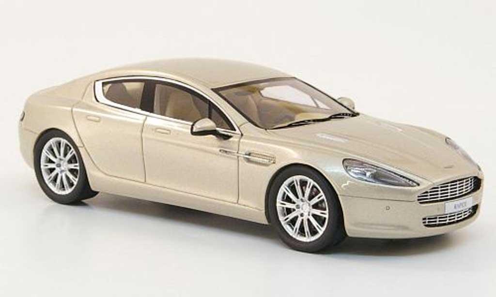 aston martin rapide miniature beige autosalon genf 2010 minichamps 1 43 voiture. Black Bedroom Furniture Sets. Home Design Ideas