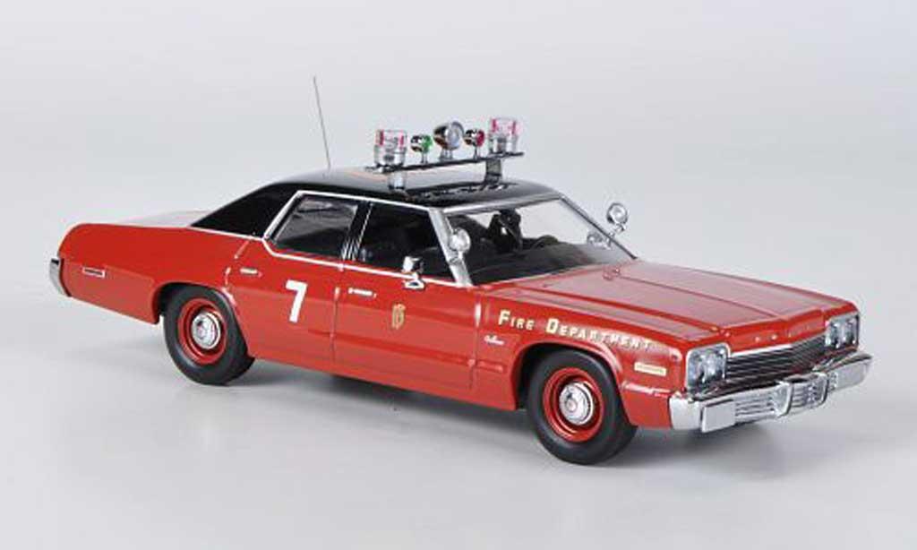 Dodge Monaco 1974 1/43 Minichamps Fire Department rouge/noire 1974 miniature