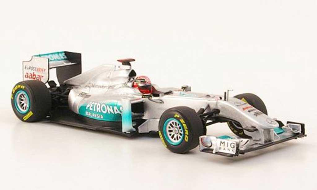Mercedes F1 2011 1/43 Minichamps GP No.7 Petronas M.Schumacher Showcar miniature