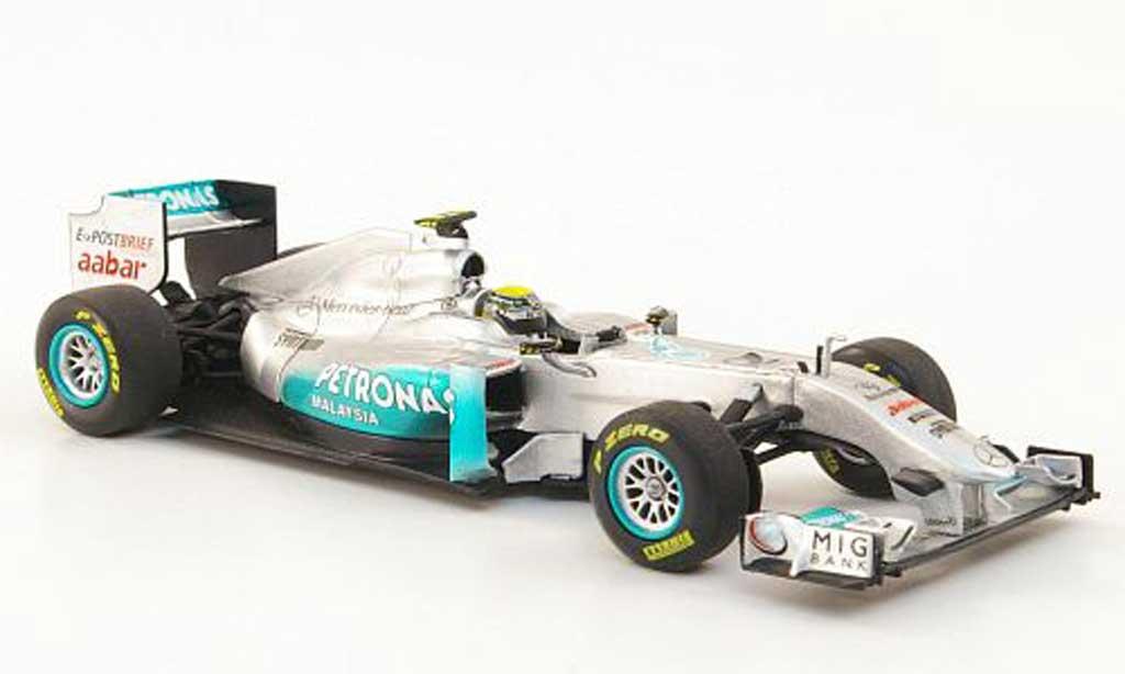 Mercedes F1 2011 1/43 Minichamps GP F1 Team No.8 Petronas N.Rosberg Showcar miniature