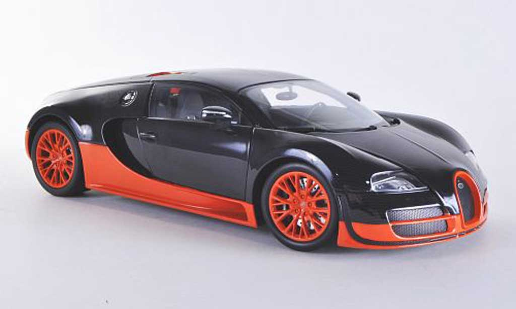 Bugatti Veyron Super Sport 1/18 Minichamps carbon/orange 2011 miniature