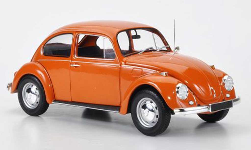 Volkswagen Kafer 1/18 Minichamps 1200 orange 1972 diecast model cars