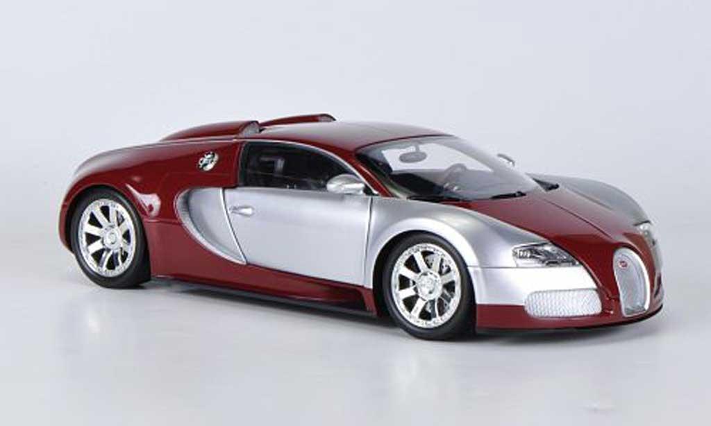 Bugatti Veyron Edition Centenaire 1/18 Minichamps chrom/rouge 2009 miniature