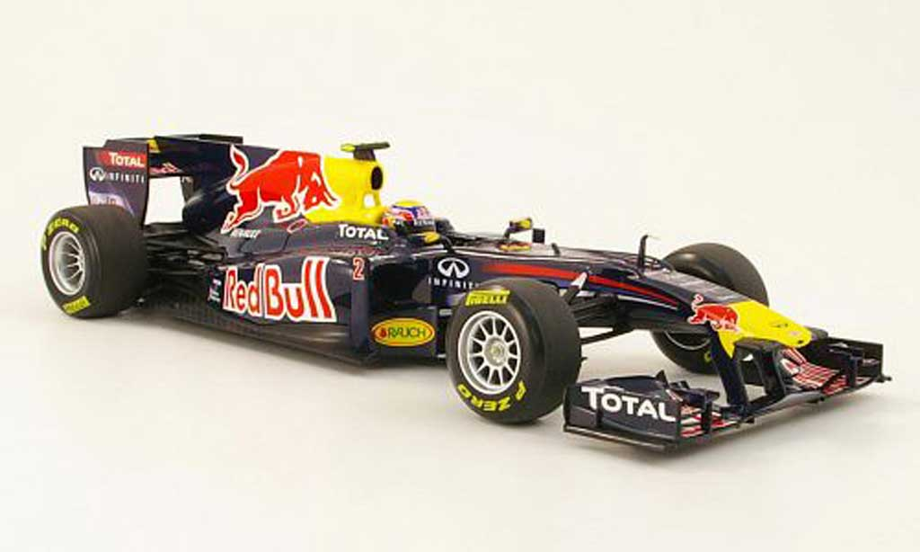 renault f1 miniature red bull no2 showcar 2011 minichamps 1 18 voiture. Black Bedroom Furniture Sets. Home Design Ideas