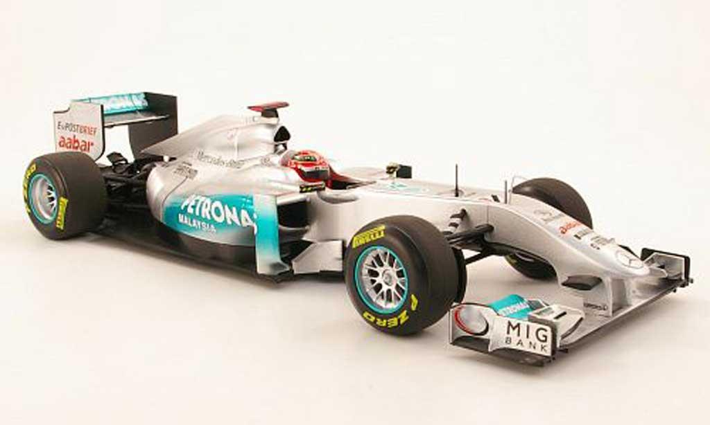 Mercedes F1 1/18 Minichamps MGP Team No7 Petronas M.Schumacher Showcar 2011 miniature