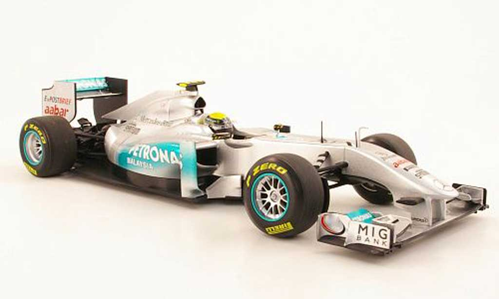 Mercedes F1 1/18 Minichamps MGP Team No8 Petronas N Rosberg Showcar 2011 miniature