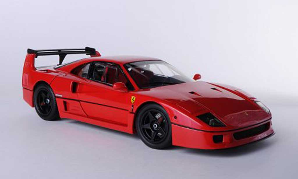 Ferrari F40 1/18 Kyosho Light Weight LM Wing red diecast model cars