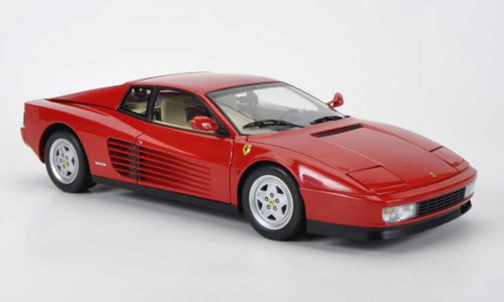 Ferrari Testarossa 1/18 Kyosho red 1989 diecast model cars