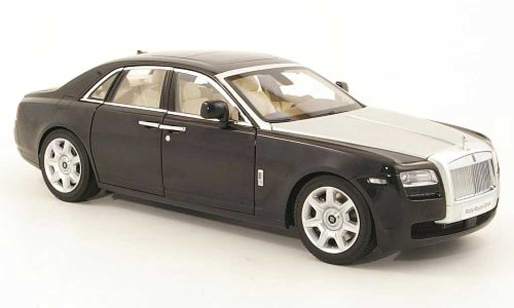 rolls royce ghost h22 schwarz silber kyosho modellauto 1. Black Bedroom Furniture Sets. Home Design Ideas