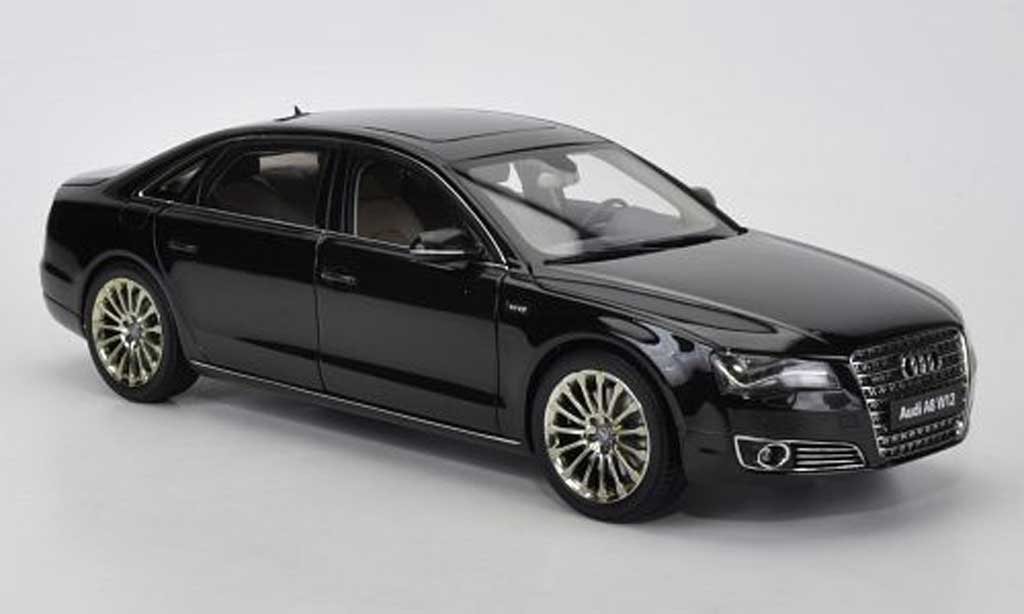 audi a8 w12 l d4 black 2010 kyosho diecast model car 1. Black Bedroom Furniture Sets. Home Design Ideas