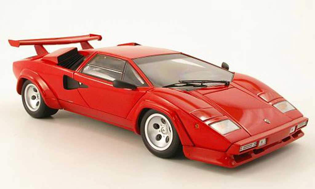 Lamborghini Countach LP 500 1/18 Kyosho s red diecast model cars