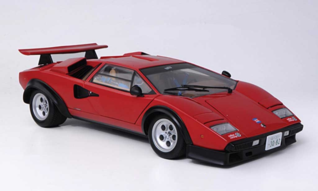 Lamborghini Countach 5000 S 1/18 Kyosho Walter Wolf red diecast model cars