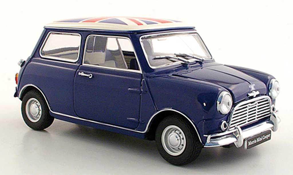 Austin Mini Cooper S 1/18 Kyosho S Mk I 1275S bleu/Union Jack miniature
