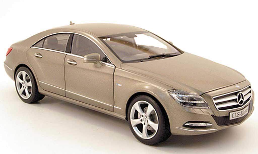 Mercedes Classe CLS 1/18 Norev (c218) matt grey 2011 diecast model cars