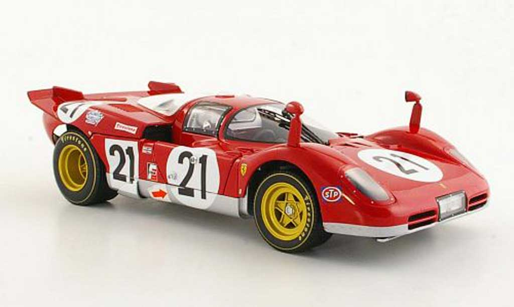 Ferrari 512 S 1/18 Hot Wheels Elite No.21 Giunti / Vaccarella / Andretti 12h Sebring 1970 miniature