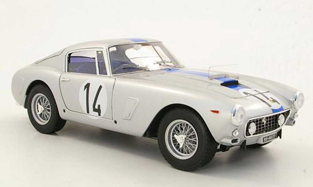 Ferrari 250 GT 1961 1/18 Hot Wheels Elite Berlinetta SWB No.14 24h Le Mans (Elite) miniature
