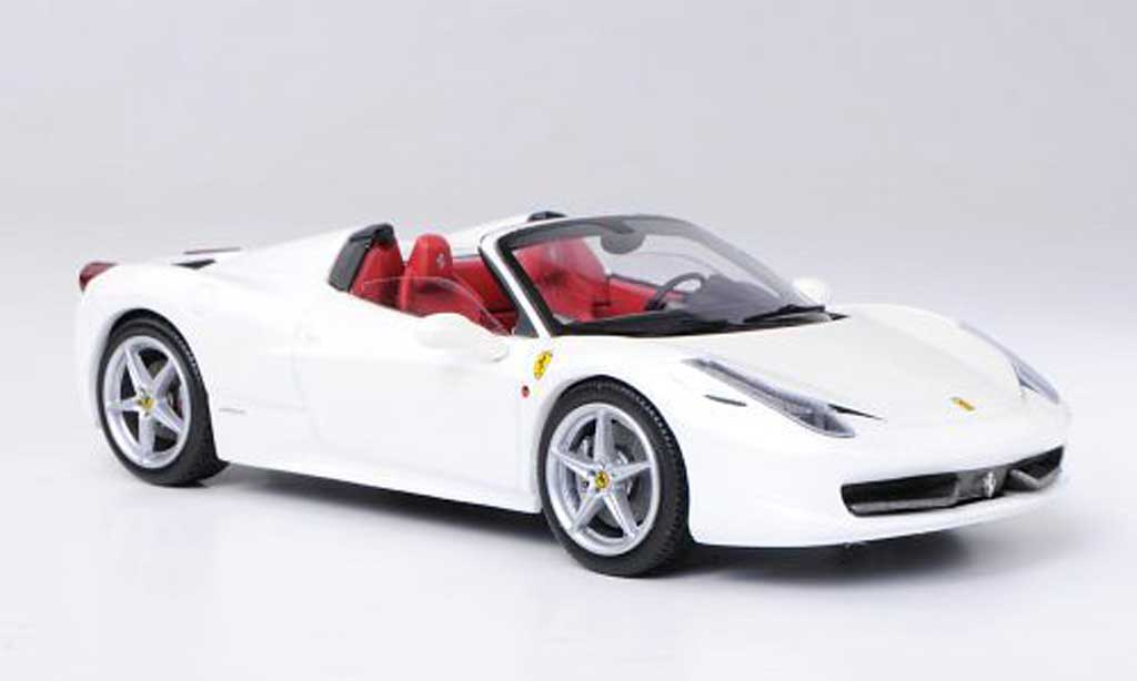 Ferrari 458 Italia Spider white Hot Wheels Elite diecast ...