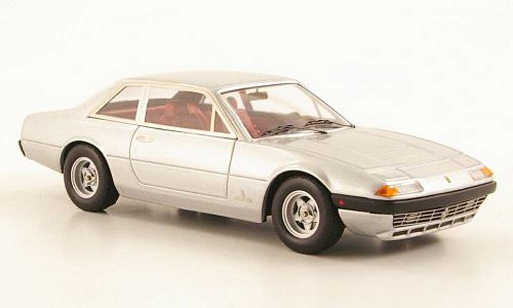 Ferrari 365 GT4 2+2 1/43 Hot Wheels Elite grise  (Elite) miniature