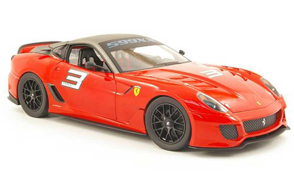 Ferrari 599 XX 1/18 Hot Wheels no.3 rot/grau modellautos