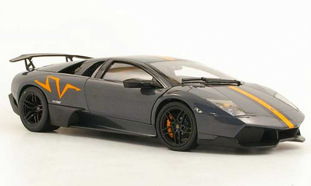 Lamborghini Murcielago LP670 1/18 Norev 4 SV China Edition grise 2010 miniature