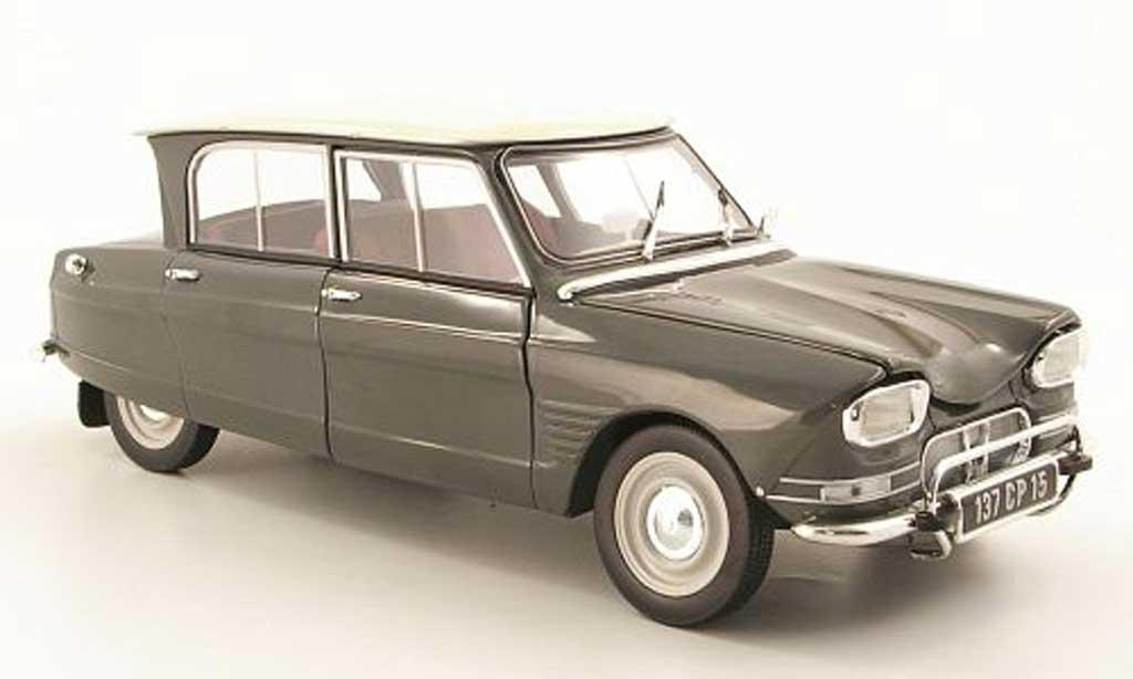 Citroen Ami 6 Miniature Grise Blanche 1964 Norev 1 18 Voiture Miniature Com