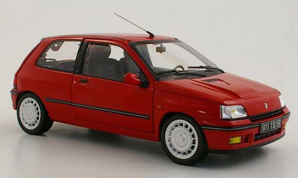 renault clio 16s miniature i 16s rouge 1991 norev 1 18 voiture. Black Bedroom Furniture Sets. Home Design Ideas