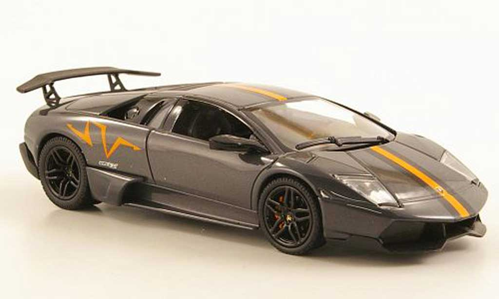 Lamborghini Murcielago LP670 1/43 Norev SV grise China Edition 2010 miniature