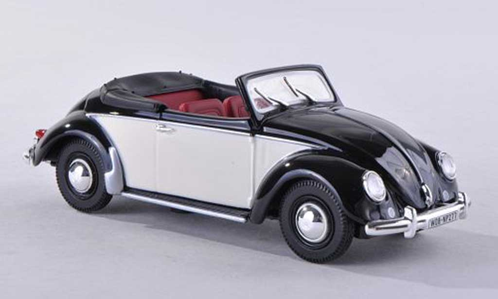 Volkswagen Coccinelle 1/43 Norev cabriolet noire/beige 1949 miniature