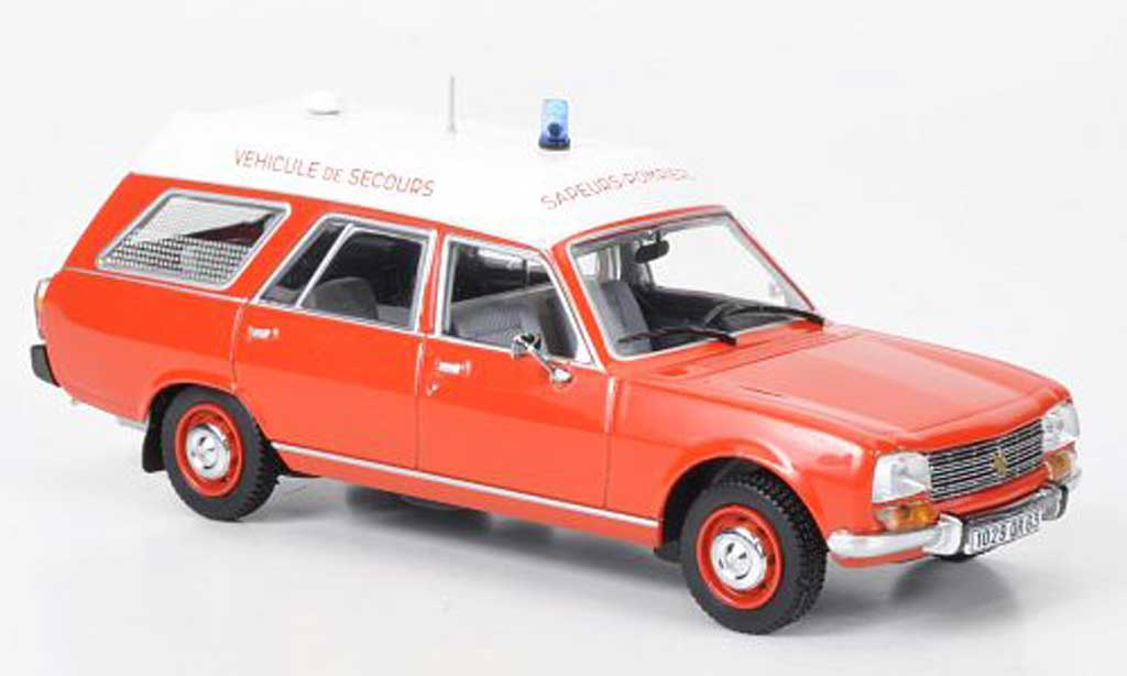 Peugeot 504 Break 1/43 Norev Pompiers Ambulance 1979 miniature