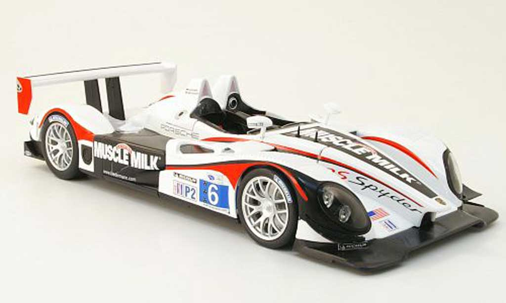 Porsche RS Spyder 1/18 Norev no.6 muscle milk team cytosport alms 2010 g.pickett / k.graf diecast model cars