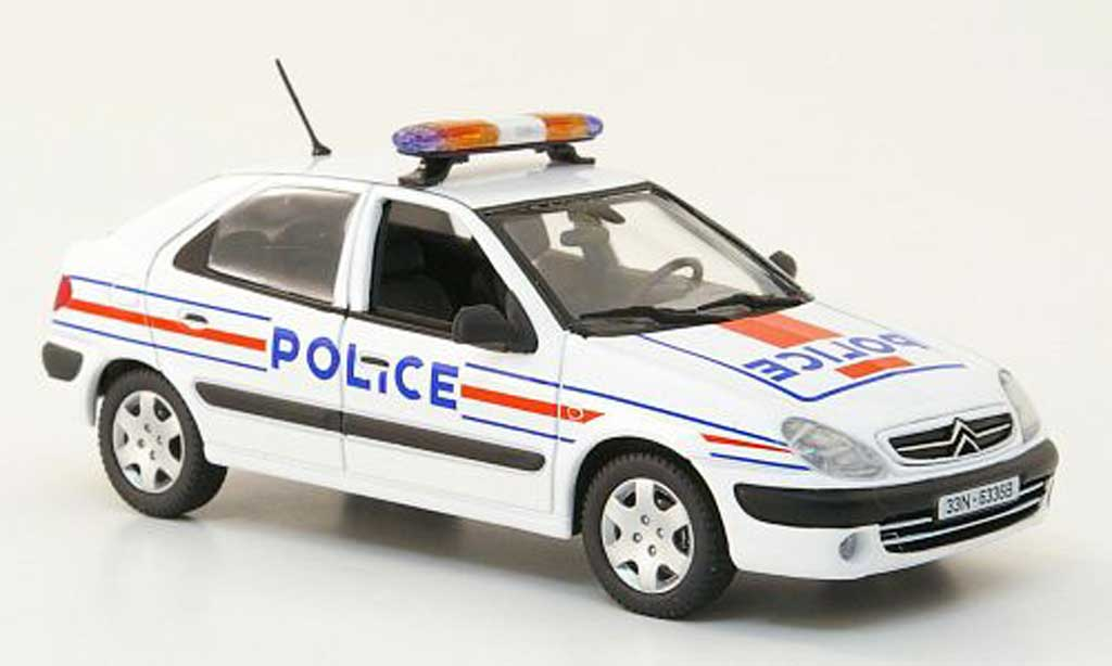 citroen xsara miniature police nationale polizei f 2001 norev 1 43 voiture. Black Bedroom Furniture Sets. Home Design Ideas