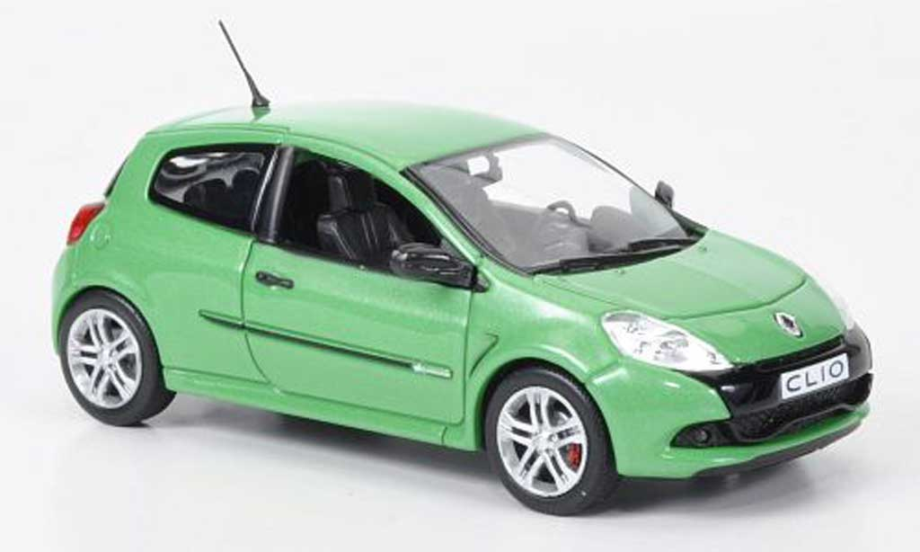 renault clio 3 rs clio rs green 2009 norev diecast model car 1 43 buy sell diecast car on. Black Bedroom Furniture Sets. Home Design Ideas
