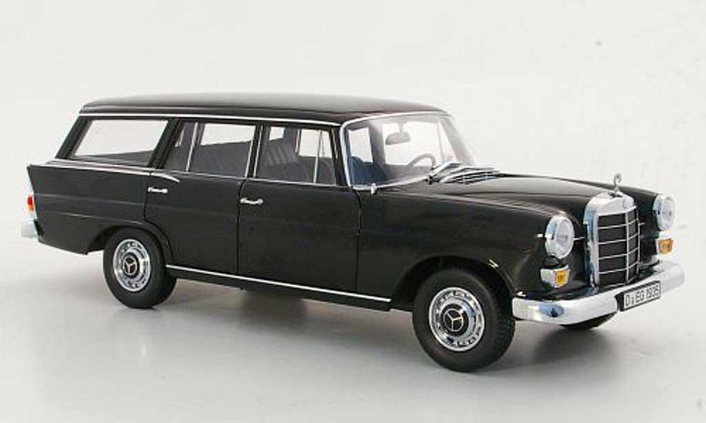 Mercedes 200 1/18 Norev (W110) Universal noire 1968 miniature