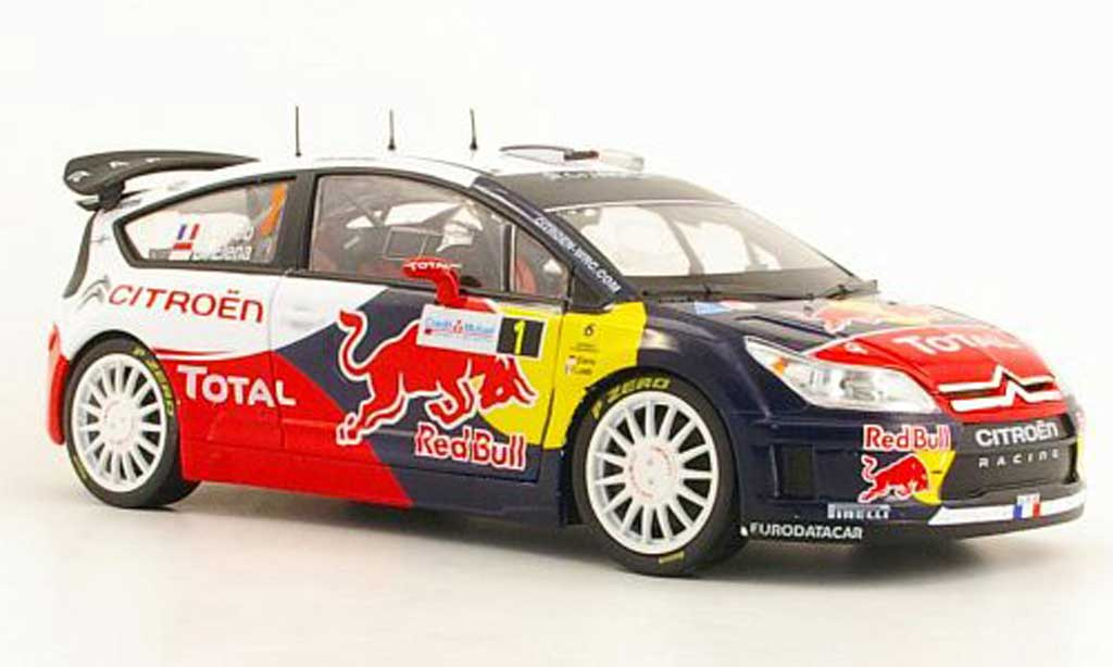 Citroen C4 WRC 2010 1/18 Norev No.1 Total / Red Bull S.Loeb / D.Elena Rally d'Alsace miniature
