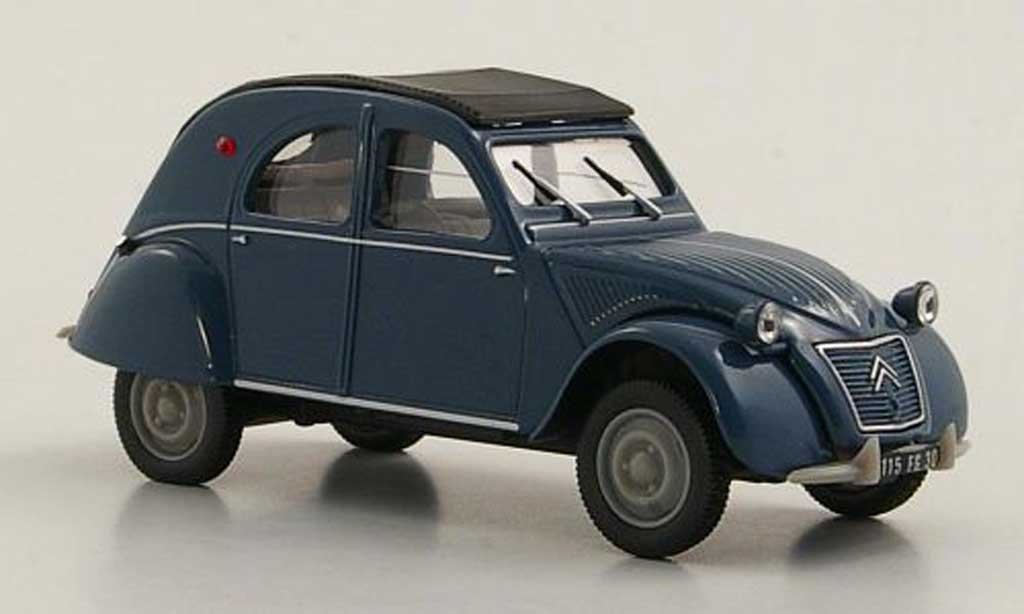 citroen 2cv azlp blue 1960 norev diecast model car 1 43