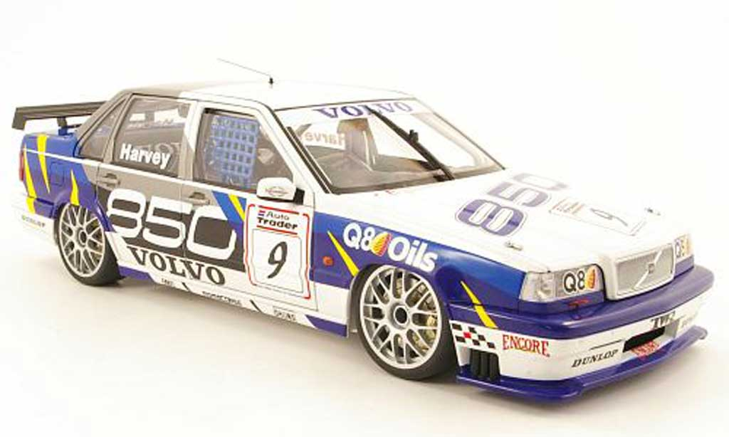 Volvo 850 Sedan 1/18 Autoart no9 q8 oils btcc 1995 tharvey miniature